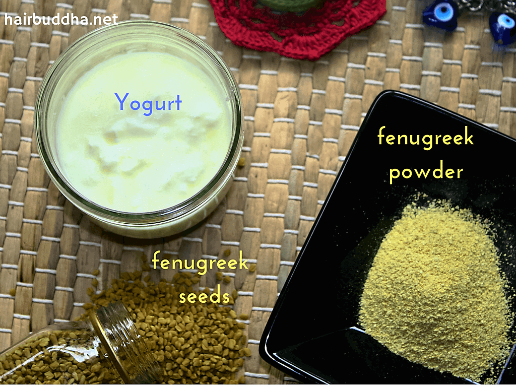 fenugreek hair pack ingredients