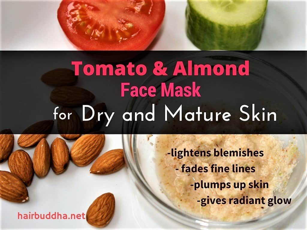 tomato and almond face mask for dry and mature skin