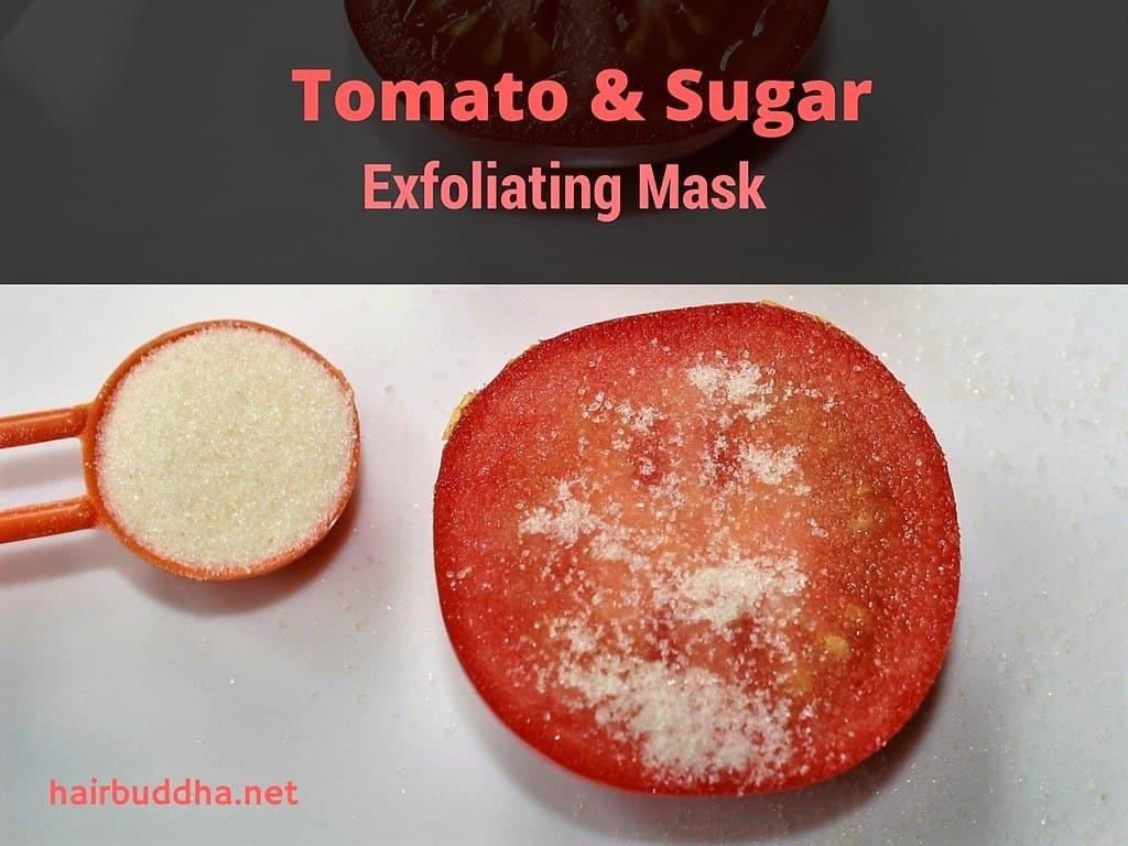 tomato and sugar exfoliating mask