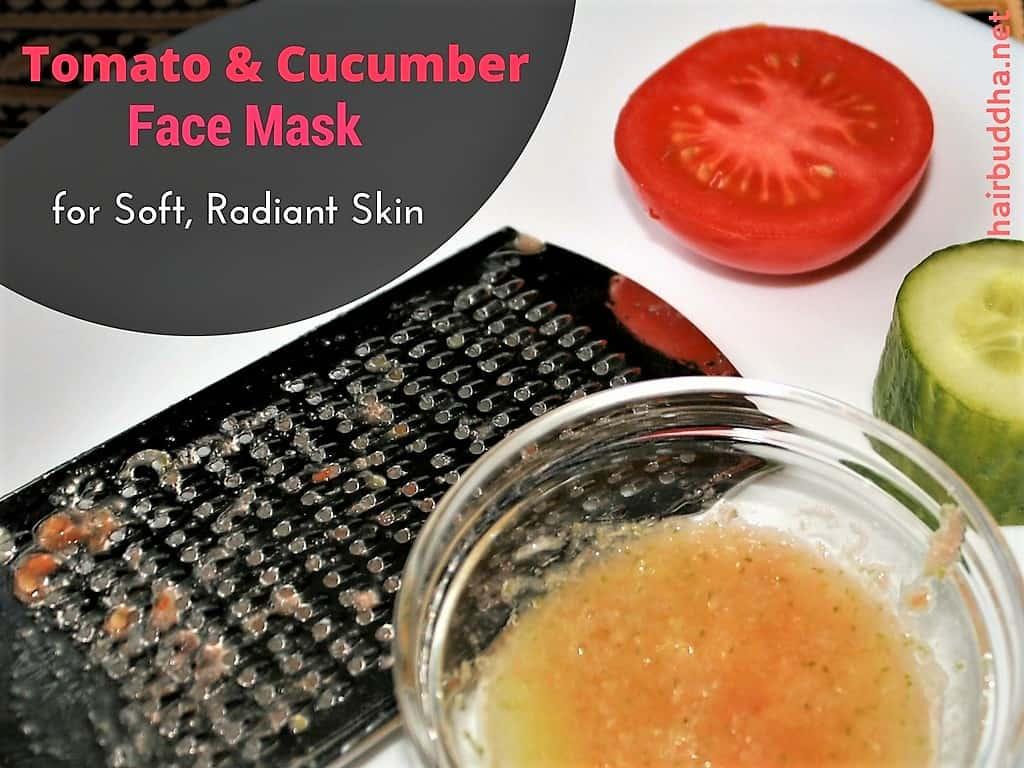 tomato cucumber face mask